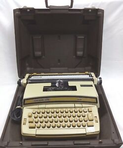 Smith Corona Coronamatic Coronet Super 12 Portable Electric Typewriter Brown