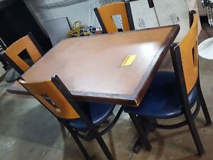 Table And Chairs Commercial Restaurant Dining Set x1 Table X4 Chairs