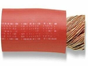 1 0ga Red Welding Cable 250 Feet spool 1045 30 Stranding Tpe