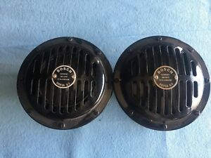 Porsche 356 Original Bosch Horns Restored Set 7 C 68