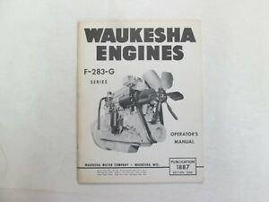 Waukesha Engines F 283 g Series Operators Manual Minor Stains Factory Oem Deal