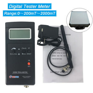 Digital Magnetic Field Tesla Tester Measurement Sj200 Gauss Meter Gaussmeter
