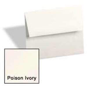Poison Ivory A6 4 3 4 x 6 1 2 Envelopes 250 pk Metallic Paperpapers 4x6