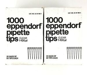 1600 pk Eppendorf Pipette Tips 1600 Count Clear 1 100ul 32 Bags Of 50 Tips New