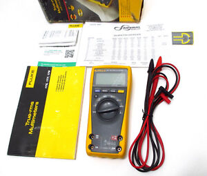 Fluke 177 True Rms Multimeter Calibrated W Current Nist Certificate Excellent