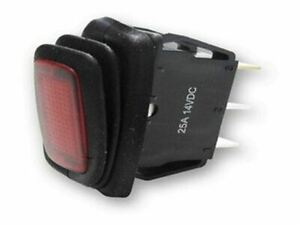 Rectangle Rocker Switch Red Led 3p Spst On off 25a 14vdc