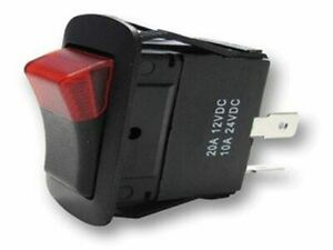 Rectangle Rocker Switch Black 3p Spst On off 20a 14vdc