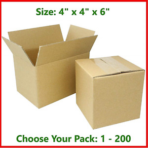 4x4x6 Cardboard Packing Mailing Gift Moving Shipping Boxes Corrugated Box Carton