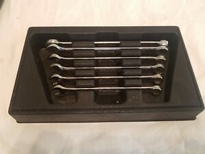 Snap on 6 Pc Metric Flank Drive Plus Standard Combination Wrench Set