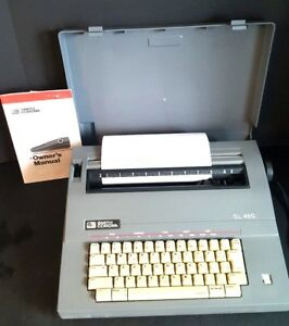 Smith Corona Sl460 Electronic Portable Typewriter With Cover And Word Eraser Euc