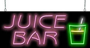 Juice Bar Neon Sign Jantec 2 Sizes Breakfast Cafe Diner Real Neon