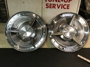 Pontiac Early 1960s Hubcaps Vintage Spinner