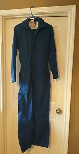 Frc Topps Nomex Iiia Blue Size 34 R Flame Resistant Coveralls Overalls Nice