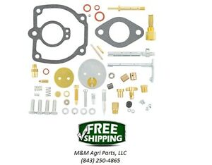 Farmall M Mv W6 Tractor Complete Carburetor Kit Ih Carb 47387db 50983db 8557dx