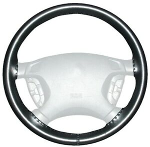 Wheelskins Black Genuine Leather Steering Wheel Cover For Ford size Ax