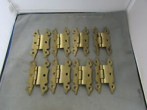 Lot 8 Vtg Nos Offset Hinges Brass Plated 4 Butterfly Amerock