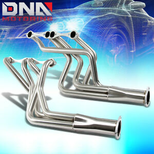 For Small Block V8 Biscayne Nova 283 400 Long Tube Pipe Exhaust Manifold Header