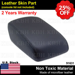 Fits 12 18 Ford Focus Center Console Lid Armrest Cover Synthetic Leather Black