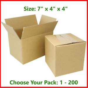 7x4x4 Cardboard Packing Mailing Gift Moving Shipping Boxes Corrugated Box Carton