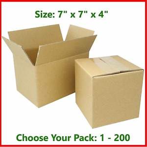 7x7x4 Cardboard Packing Mailing Gift Moving Shipping Boxes Corrugated Box Carton