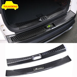 2x For Ford Escape Kuga 2017 Inner Outer Rear Bumper Protector Sill Plate Cover