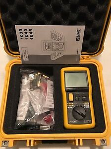 Aemc 1045 9 piece Megohmmeter Field Kit With Meter Leads Probes Case 2117 31