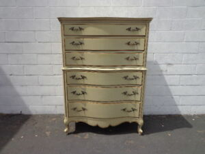 French Provincial Dresser Chest Of Drawers Boho Tallboy Highboy Shabby Chic