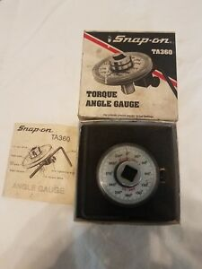 Snap on Torque Angle Gauge 1 2 Square Drive ta360