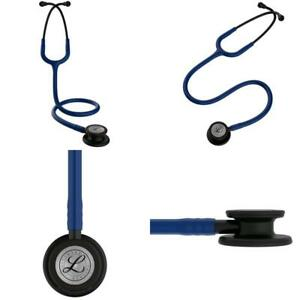 Cardiology Classic Iii Stethoscope 27 Inch Nurses Medical Matte Chestpiece Black
