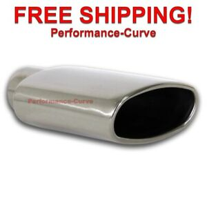 Stainless Steel Exhaust Tip Rolled Oval Angle 2 25 In 6 X 2 5 Out
