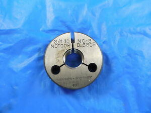 3 4 10 Nc 3 Thread Ring Gage 75 No Go Only P d 6805 Machine Shop Tooling