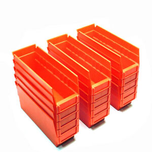 lot Of 15 Akro mils 30 120 Red Stackable Storage Bins 11 5 X 4 25 X 4