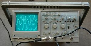 Tektronix Tas250 Dual Trace 50 Mhz Oscilloscope Read out Two Probes Power Cord