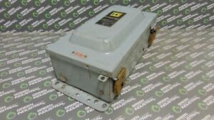 Used Square D 8536seo1s Nema Size 3 Enclosed Magnetic Contactor Ser A