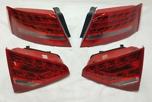 2008 2012 Audi S5 A5 Rear Led Tail Lights Taillights Complete Pre Facelift 4pcs