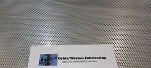 11 Gauge 1 8 Thick 1 8 Holes 304 Stainless Steel Perforated Sheet 6 X 24