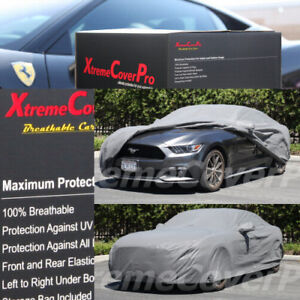 Custom Fit Car Cover Grey For 2015 2016 2017 2018 Ford Mustang