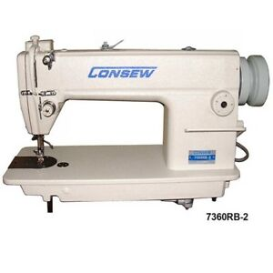 Consew 7360rb 2 Large Bobbin Industrial Lockstitch Sewing Machine Complete Set