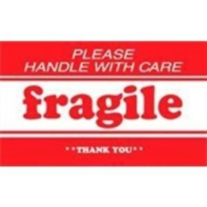 1000 dl1270 3 X 5 Please Handle With Care Fragile Thank You Label