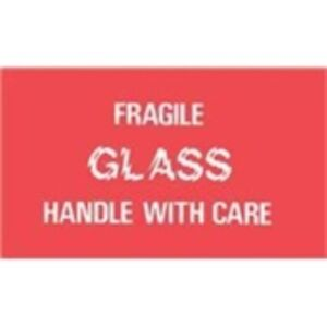 1000 dl1150 3 X 5 Fragile Glass Handle With Care Label