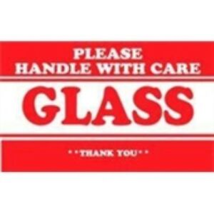 1000 dl1280 3 X 5 Please Handle With Care Glass Thank You Label