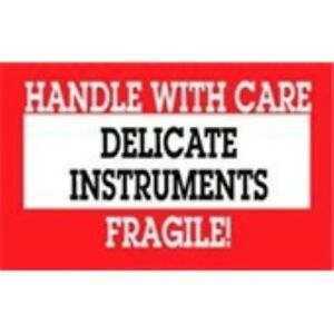 1000 dl1460 3 X 5 Delicate Instruments Handle With Care Fragile Label