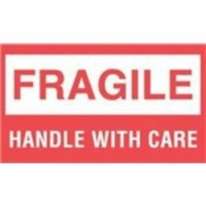 1000 dl1070 3 X 5 Fragile Handle With Care Label