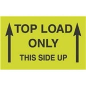1000 dl2701 3 X 5 Top Load Only Label This Side Up arrows