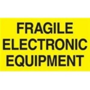 1000 dl2441 3 X 5 Fragile Electronic Equipment Label