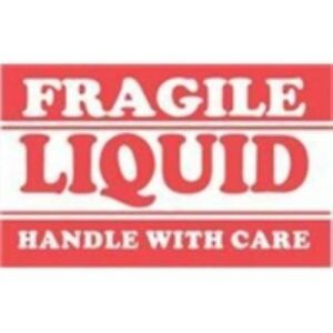 1000 dl1300 3 X 5 Fragile Liquid Handle With Care Label