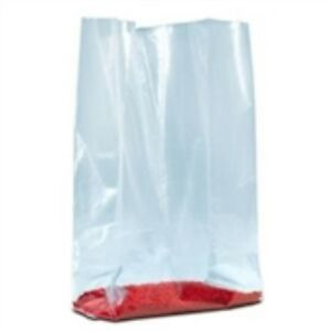 1000 8 X 3 X 15 1 1 2 Mil Gusseted Poly Bags Clear Meet Fda usda Requirements