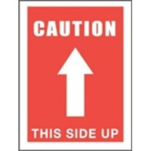 1000 dl1491 3 X 5 Caution This Side Up arrow Label