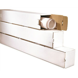 50 3 X 3 X 43 Square Tube White With Locking Tabs