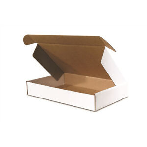 50 9 X 6 1 4 X 2 Front Lock Deluxe Literature Mailer White That Ships Flat